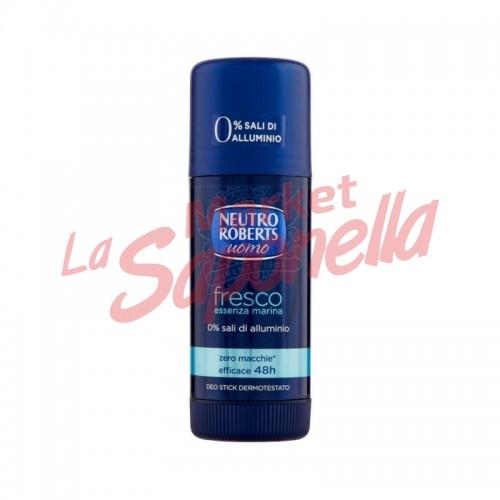 Antiperspirant Neutro Roberts stick pentru barbati Fresco esenta marina 40 ml
